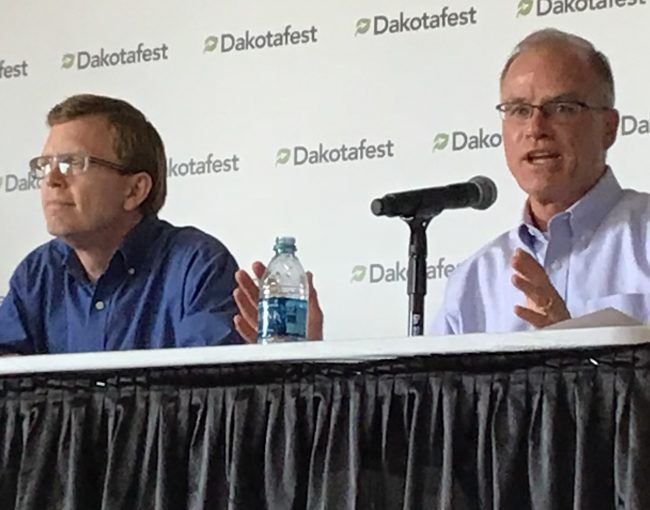 Candidates square off in a debate at DakotaFest